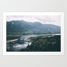 Columbia River Gorge IV Art Print