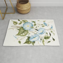 Morning Glories Rug