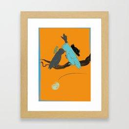 bird flight love moon 58 Framed Art Print