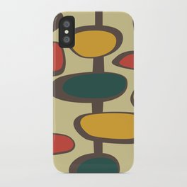 Mid Century Modern Baubles (gold) iPhone Case