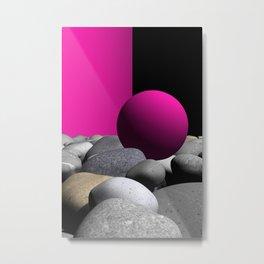 go pink -9- Metal Print