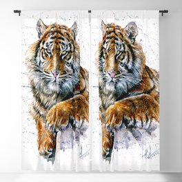 Tiger watercolor Blackout Curtain