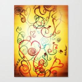 Heart Dance - Original Print  Canvas Print