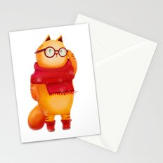 Smart cat Stationery Cards