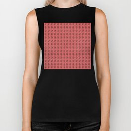 Jeff Goldblum Pattern Red Biker Tank