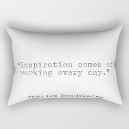 Quote by Charles Baudelaire Rectangular Pillow