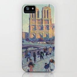 """Maximilien Luce """"The Quai Saint-Michel and Notre-Dame"""" iPhone Case"""