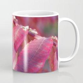 Radiant Red Sumac Leaves Coffee Mug