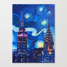 Starry Night in New York - Van Gogh Inspirations in Manhattan Canvas Print