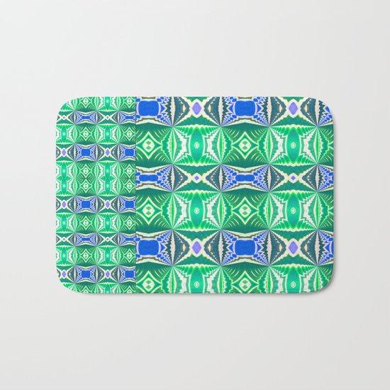 Green Mosaic Bath Mat