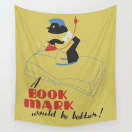 Book Mark Wall Tapestry