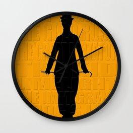 Graphic Chaplin Wall Clock