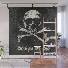 Design Or Die - Jolly Roger (Skull and Crossbones) Wall Mural