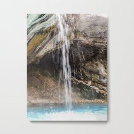 Hot Sulphur Springs Waterfall Metal Print