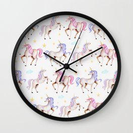 Magical Unicorns Wall Clock