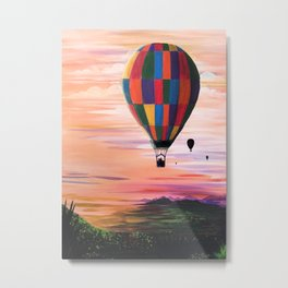 Hot Air Journey Metal Print