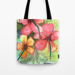 Hibiscus Be Side Myself Tote Bag
