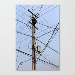 Chinese Electrical Panel Canvas Print