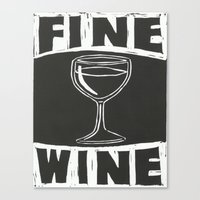 wine Canvas Prints featuring Wine by Peter Dunne