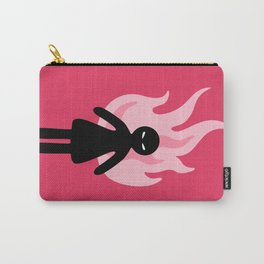 Beware of The Angry Girl - Pink Flames Carry-All Pouch