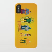 justice league iPhone & iPod Cases featuring Justice League of America - Pixel Nostalgia by Boo! Studio