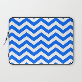 Blue Chevron Lines Laptop Sleeve