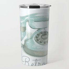 Retro Chat Travel Mug