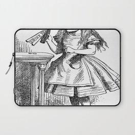 Alice in Wonderland Drink Me Bottle Transparent Background Laptop Sleeve