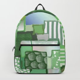 Sage Green Patchwork Backpack