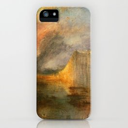 """J. M. W. Turner """"The Burning of the Houses of Lords and Commons""""(1834) iPhone Case"""