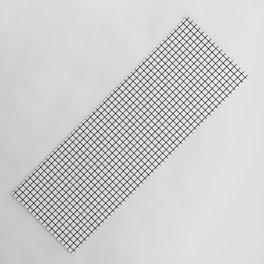Black and White Grid Graph Yoga Mat