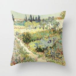Vincent Van Gogh : Garden at Arles Throw Pillow