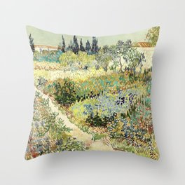 Vincent Van Gogh : Garden at Arles Throw Pillow
