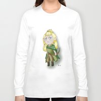 chibi Long Sleeve T-shirts featuring Chibi Legolas by Miss No!