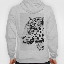 Watercolor Leopard (Black and White) Hoody