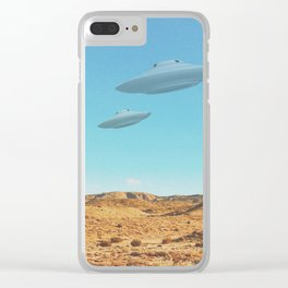 UFO in a California Desert with abandoned objects Clear iPhone Case