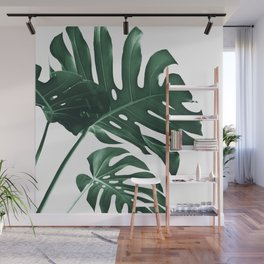 Tropical Monstera Finesse #1 #minimal #decor #art #society6 Wall Mural