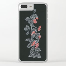 Black Pages II Clear iPhone Case