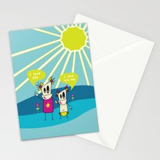 Robot Sisters Blue - A Family Affair Stationery Cards