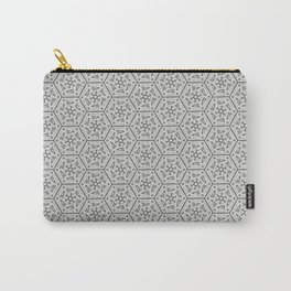Going Round and Round - Stone Grey Carry-All Pouch