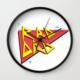 Rad Dad - Red Wall Clock