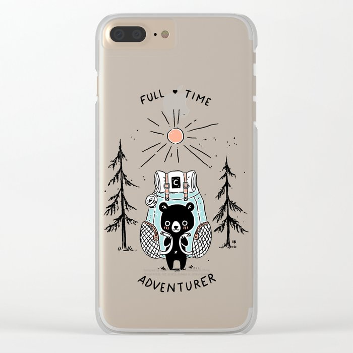 Adventure Bear Clear iPhone Case