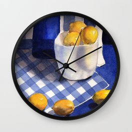Still Life with Lemons Wall Clock