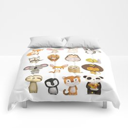 Mr. Lion, Mr. Squirrel & Their Friends Comforters