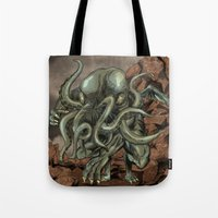 cthulhu Tote Bags featuring Cthulhu by MrDenmac