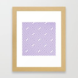 Abstract modern geometrical ultraviolet white key pattern Framed Art Print