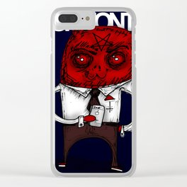 THE DEVIL Clear iPhone Case