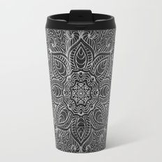 Wood Mandala - Silver Travel Mug