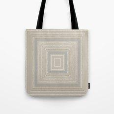 Sandy Beige Concentric Squares Tote Bag