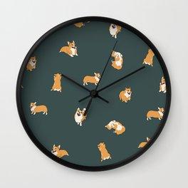 Corgi Print #2 Wall Clock